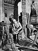 Final decoration and sealing of Tutankhamun's tomb, Egypt