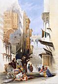 Street Leading to El Azhar, Grand Cairo, Egypt, 1846