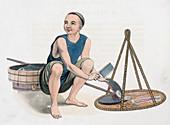 A fishmonger, 1800