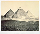 The Pyramids of El-Geezeh from the South West, Egypt, 1858