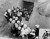Closing the Tomb of Tutankhamun, Egypt, February 1923
