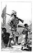 Henry Morton Stanley approaching Lake Tanganyika