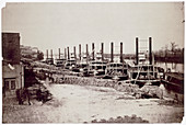 Steamers on the Mississippi, USA, 19th century