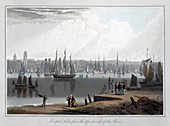 Liverpool, taken from the oppersite side of the River, 1815