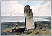 Druidical Stone, Isle of Lewis, Scotland, 1820
