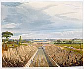 Near Liverpool, looking towards Manchester, 1833