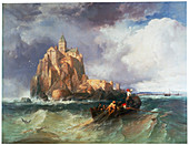 Mont St Michel, 1868