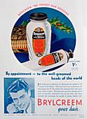 Brylcreem advert, 1938