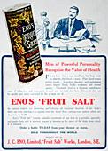 Eno's Fruit Salt advertisement, 1915