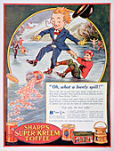 Advert for Sharp's Super-Kreem Toffee, 1923