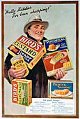 Advert for Bird's foods, 1920