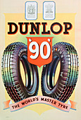 Advert for Dunlop '90' tyres, 1935