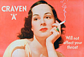 Advert for Craven 'A' cigarettes, 1939