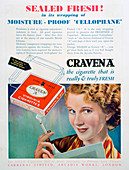 Advert for Craven 'A' cigarettes, 1931