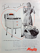 Maytag washing machine advert, 1946