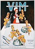 Advert for Vim cleanser and polisher, 1919