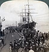 Pacific Mail SS China, at Yokohama, Japan, 1904