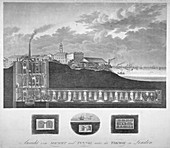 The Thames Tunnel under construction, London, c1835