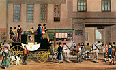 The Blenheim, Leaving the Star Hotel, Oxford, 1831