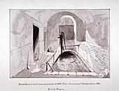 Brick reservoir discovered in Strand Lane, London, 1841