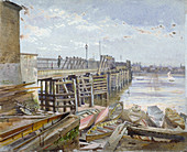 Battersea Bridge, London, 1885