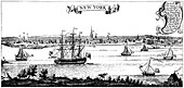 Old view of New York, 1730