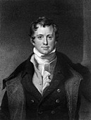 Sir Humphrey Davy, Cornish chemist and physicist, 1845