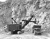 Steetley limestone quarry, South Yorkshire, 1955