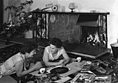 Photograph taken for a Baxi Fireplaces advertisement, 1961