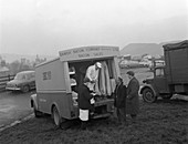 Danish Bacon Company wholesale lorry, Yorkshire, 1961