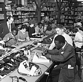 West Indian workers at the GEC, South Yorkshire, 1962