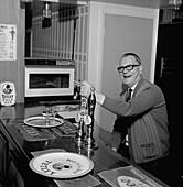 Pub landlord, Mexborough, South Yorkshire, 1968