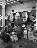 Whisky blending, Sheffield, South Yorkshire, 1960
