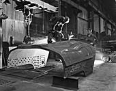Constructing a dragline bucket, 1962