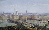London Bridge and the City of London, 1892