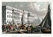 New Custom House, from Billingsgate, City of London, c1830