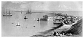Portland Harbour and Breakwater, 1866