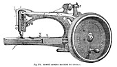 Howe's Sewing Machine, by Thomas, 1866