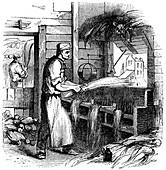 Heckling hemp, 1866
