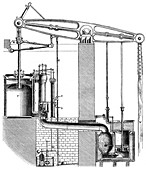 Cornish or single acting pumping engine, 1866