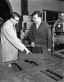 Profile cutting, Sheffield, South Yorkshire, 1964