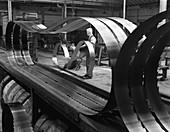 Giant bandsaw blades, Slack Sellers & Co, 1963