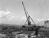 Tinsley Viaduct under construction, South Yorkshire, 1967