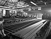 Rolling hexagonal rods, Edgar Allen Steel Foundry, 1962