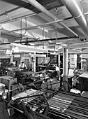 A print room in operation, Mexborough, South Yorkshire, 1959