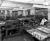 A print room, Mexborough, South Yorkshire, 1959