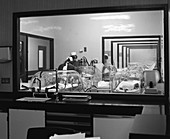 Special care unit for premature babies, 1969