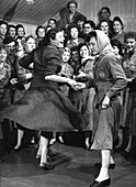 Female ICI employees enjoy a dance, South Yorkshire, 1957