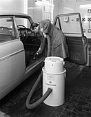 Laycock Vacacar vacuum cleaner in use, 1965