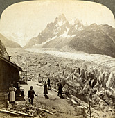 Mer de Glace from the 'Chapeau, near Chamonix, France